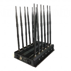 High Power 12 Antennas Adjustable 3G 4G All Mobile Phone Signals Jammer WiFi GPS VHF UHF Lojack Signal Blocker
