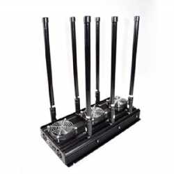 UAV drone signal jammer up to 200m, 6-band RC2.4G 5.8GHz 433/315/868/916MHz/GPS/GLONASS L1L2 jammer