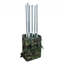 Backpack Drone Jammer with High Power,6-band WiFi GPS up to 500m/Built-in Battery/UAV Signal Jammer