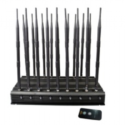 High Power 18 Antennas Adjustable 3G 4G All Mobile Phone Signals Jammer WiFi GPS VHF UHF Lojack Signal Blocker